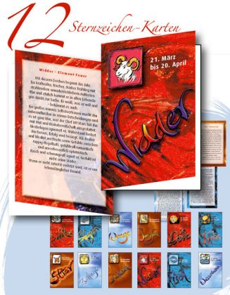 12 Sternzeichen-Karten Design-Edition