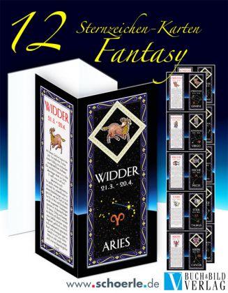 12 Sternzeichen-Karten Fantasy-Edition