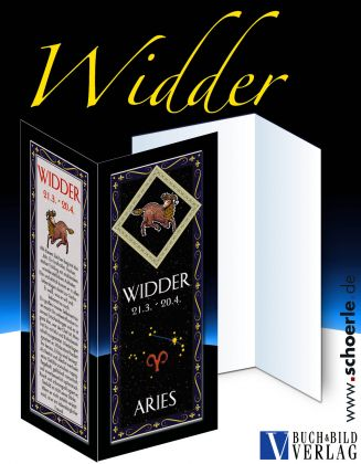 Sternzeichen-Karte Fantasy-Edition WIDDER