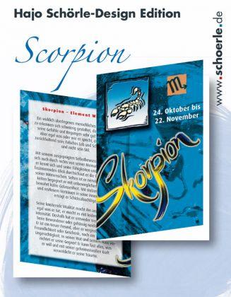 Sternzeichen-Karten Design-Edition - SCORPION