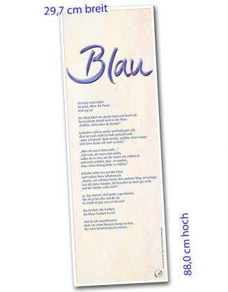 Banner-Poster 29,7 x 88,0 cm - Blau