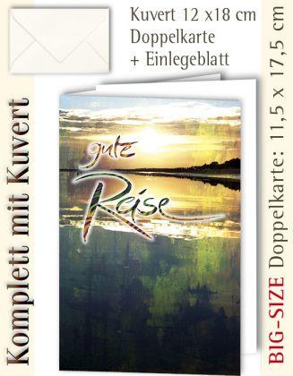 B.S.-Karte + Kuvert, Gute Reise ...? - individualisierbar