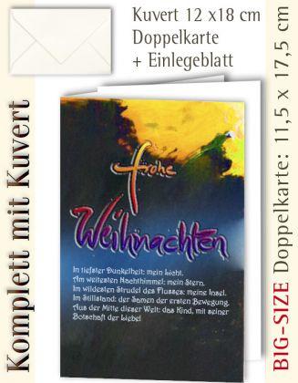 B.S.-Karte + Kuvert, Frohe Weihnachten ...? - individualisierbar