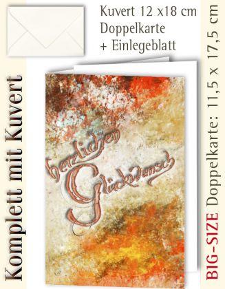 B.S.-Karte + Kuvert, Herzlichen Glückwunsch ...? - individualisierbar