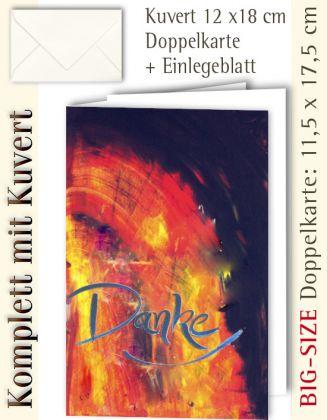 B.S.-Karte + Kuvert, Danke ...? - individualisierbar
