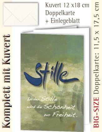 B.S.-Karte + Kuvert, Stille ...? - individualisierbar