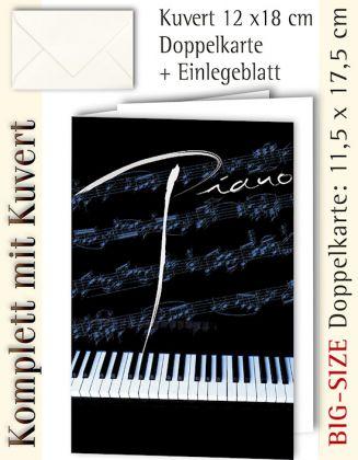 BIG-SIZE-Karte + Kuvert, Piano - individualisierbar