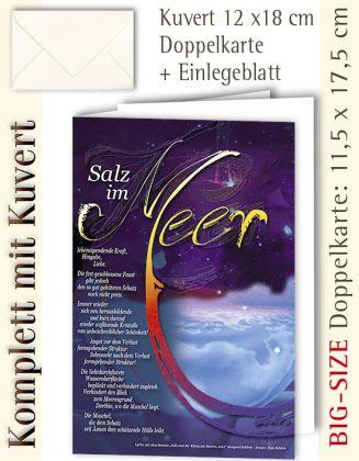 BIG-SIZE-Karte + Kuvert, Kalligraphie Salz im Meer - individualisierbar