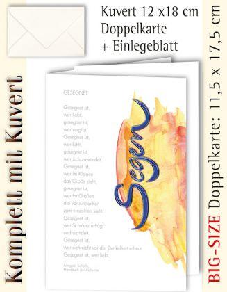 BIG-SIZE-Karte + Kuvert, Gesegnet ist, wer liebt - individualisierbar
