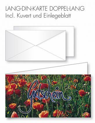 Gutschein-Karte Doppel-Lang-DIN - Gutschein/Tulpenwiese