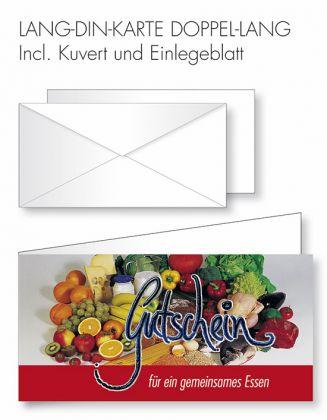 Gutschein-Karte Doppel-Lang-DIN - frisch kochen/essen