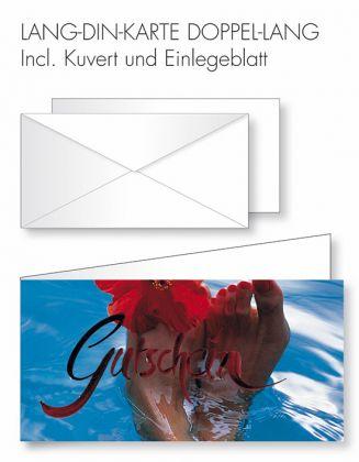 Gutschein-Karte Doppel-Lang-DIN - Wellness-Gutschein