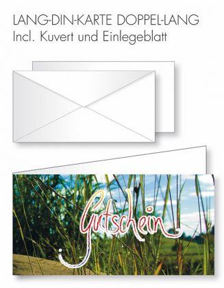 Gutschein-Karte Doppel-Lang-DIN - Motiv Wiese