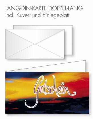 Gutschein-Karte Doppel-Lang-DIN - Gutschein+Farbhintergrund