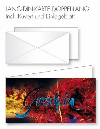 Gutschein-Karte Doppel-Lang-DIN - wilder Hintergrund