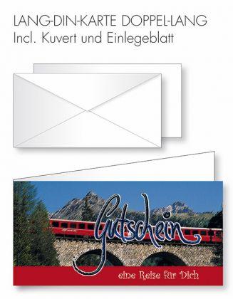 Gutschein-Karte Doppel-Lang-DIN - Reise/Zugfahrt