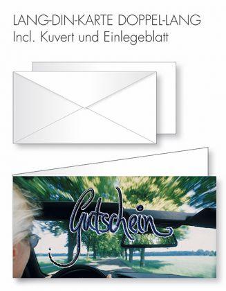 Gutschein-Karte Doppel-Lang-DIN - Ausflug ins Grüne