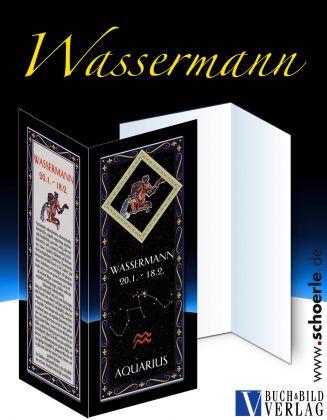 Sternzeichen-Karte Fantasy-Edition WASSERMANN