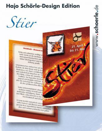 Sternzeichen-Karten Design-Edition - STIER