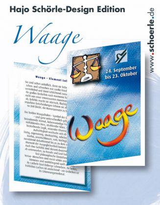 Sternzeichen-Karten Design-Edition - WAAGE