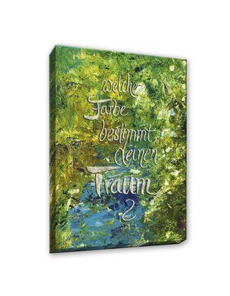 welche Farbe bestimmt deinen Traum? - Leinwanddruck 50x70 cm
