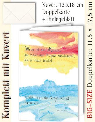 BIG-SIZE-Karte + Kuvert, Weise ist der Mensch - individualisierbar