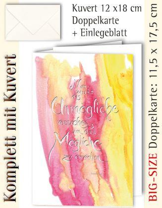 BIG-SIZE-Karte + Kuvert, Das Unmögliche - individualisierbar