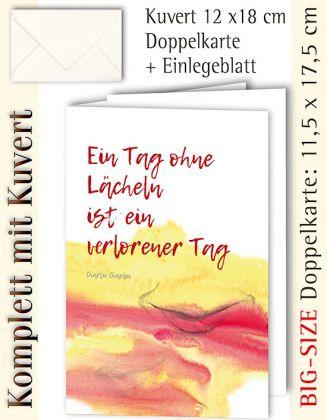 BIG-SIZE-Karte + Kuvert, Lächeln, farbe - individualisierbar