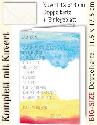 BIG-SIZE-Karte + Kuvert, Manchmal genügt es - individualisierbar