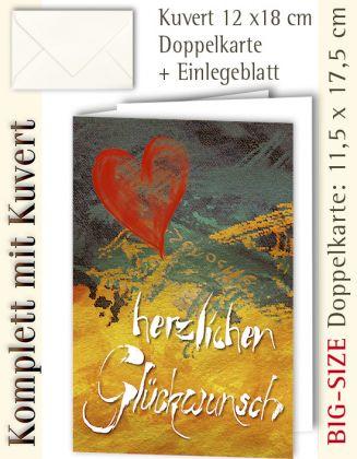 BIG-SIZE-Karte + Kuvert, Herzlichen Glückwunsch - individualisierbar