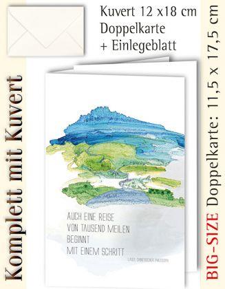 BIG-SIZE-Karte + Kuvert, Mit einem Schritt - individualisierbar