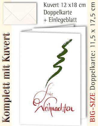 B.S.-Karte + Kuvert, Frohe Weihnachten schlicht - individualisierbar