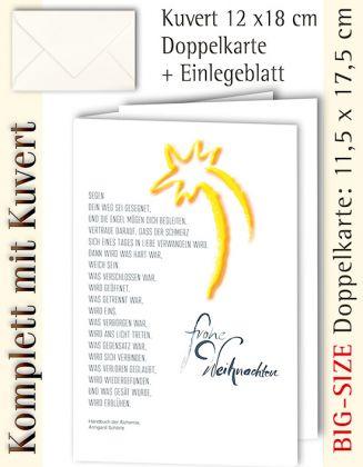 B.S.-Karte + Kuvert, Weihnachten + Text Segen - individualisierbar
