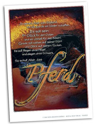 Kalligraphie - So schuf Allah das Pferd