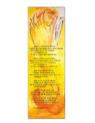 Achtsam ... - Schlanker-Leinwanddruck 40x120 cm