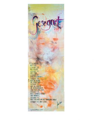 Gesegnet ... - Schlanker-Leinwanddruck 40x120 cm