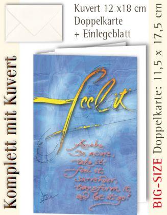 BIG-SIZE-Karte + Kuvert, Kalligraphie feel it - individualisierbar