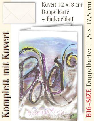 BIG-SIZE-Karte + Kuvert, Bolero - individualisierbar