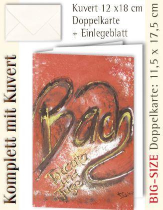 BIG-SIZE-Karte + Kuvert, Bach - individualisierbar