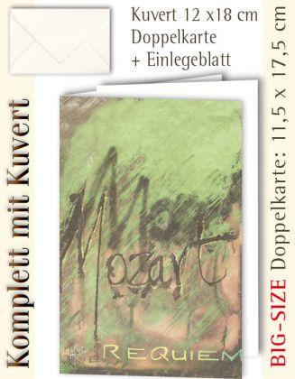 BIG-SIZE-Karte + Kuvert, Mozart Requiem - individualisierbar