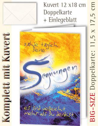 BIG-SIZE-Karte mit Kuvert, Segnungen- individualisierbar