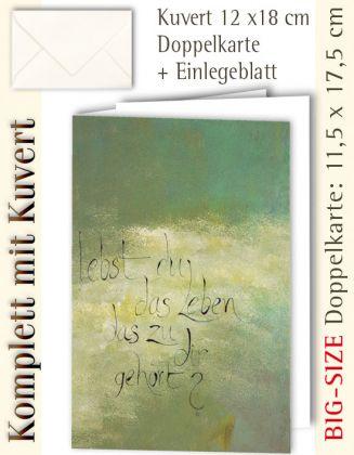 B.S.-Karte + Kuvert, lebst du das Leben ...? - individualisierbar