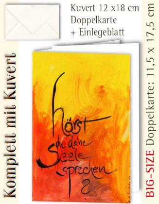 B.S.-Karte + Kuvert, hörst du deine Seele sprechen? individualisierbar