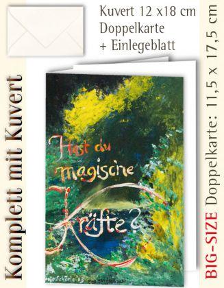 B.S.-Karte + Kuvert, hast du magische Kräfte? - individualisierbar